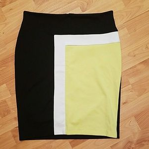 Merona colorblocked skirt